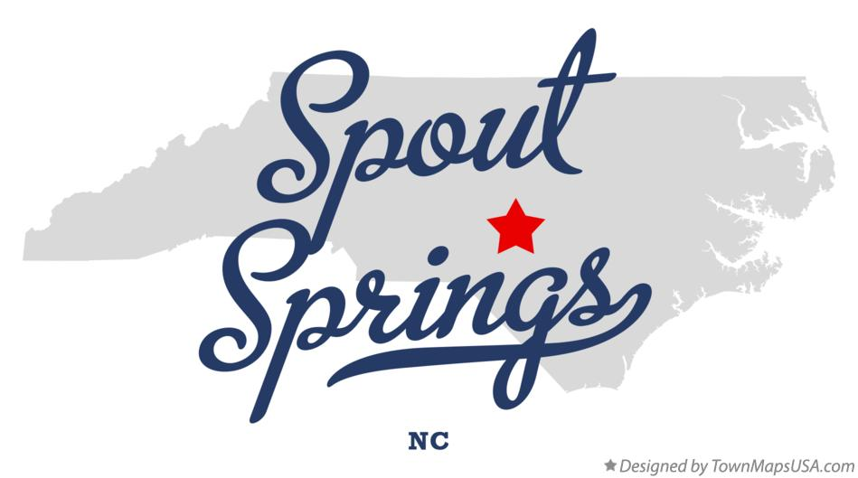 Map of Spout Springs North Carolina NC