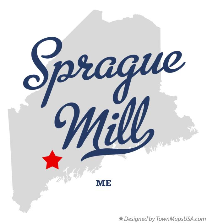 Map of Sprague Mill Maine ME