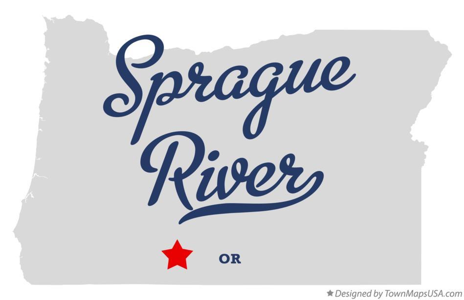 Map Of Sprague River Or Oregon