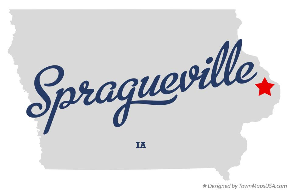 Map of Spragueville Iowa IA