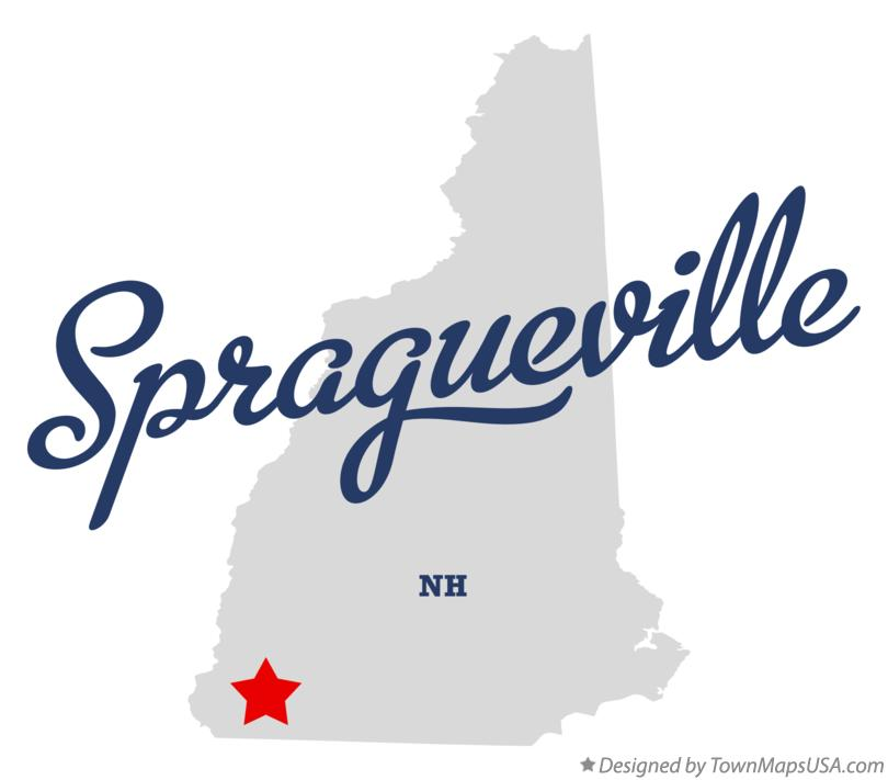 Map of Spragueville New Hampshire NH