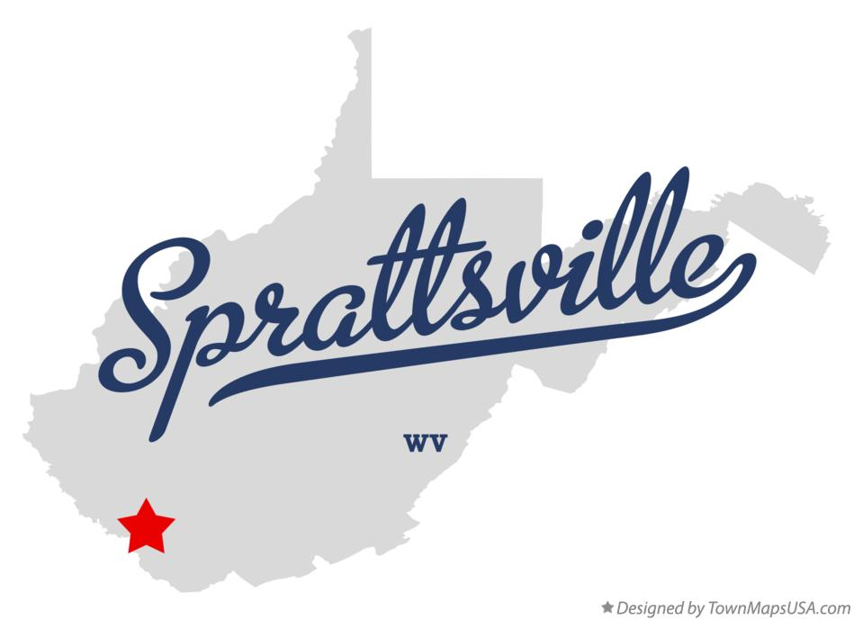 Map of Sprattsville West Virginia WV
