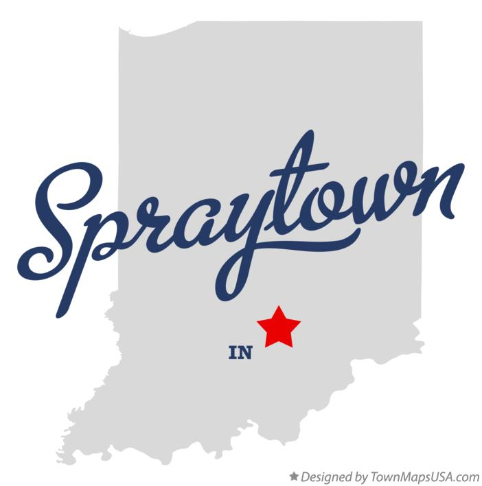 Map of Spraytown Indiana IN