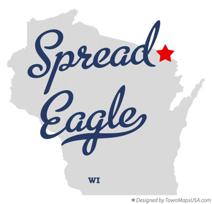 Map of Spread Eagle Wisconsin WI