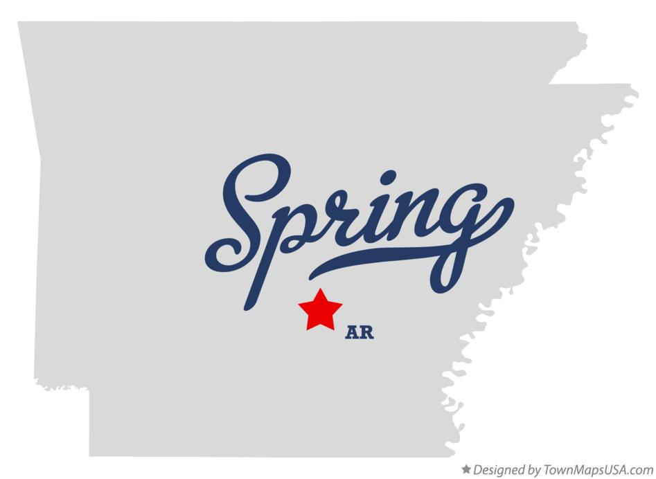 Map of Spring Arkansas AR
