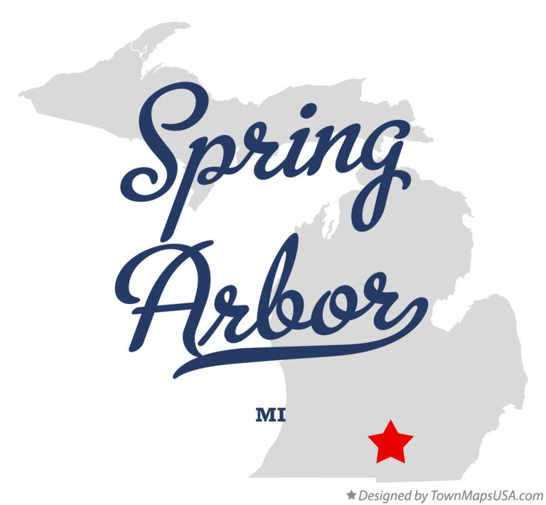 Spring Arbor Michigan Map.Map Of Spring Arbor Mi Michigan