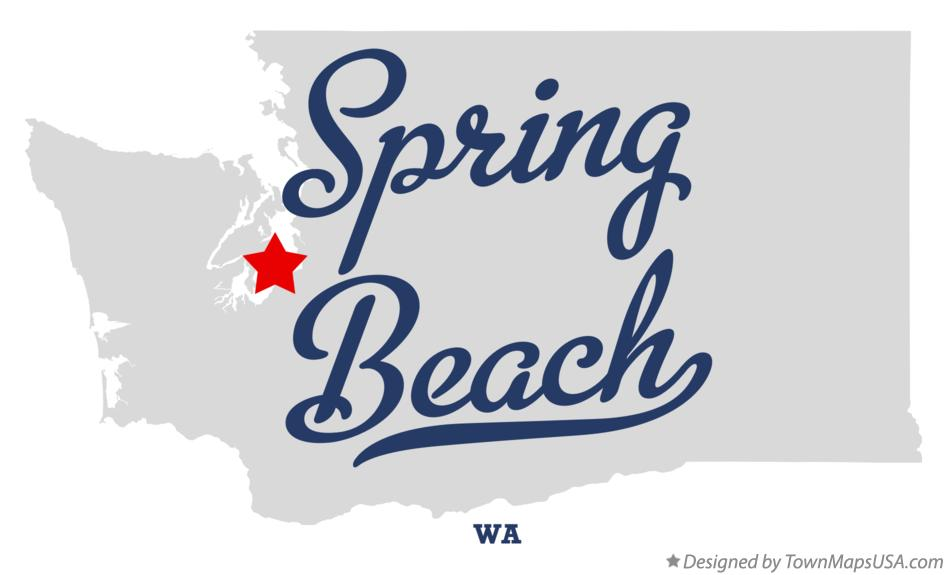 Map of Spring Beach Washington WA