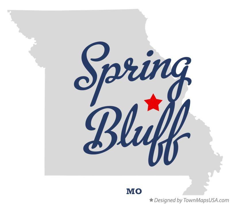 Map of Spring Bluff Missouri MO