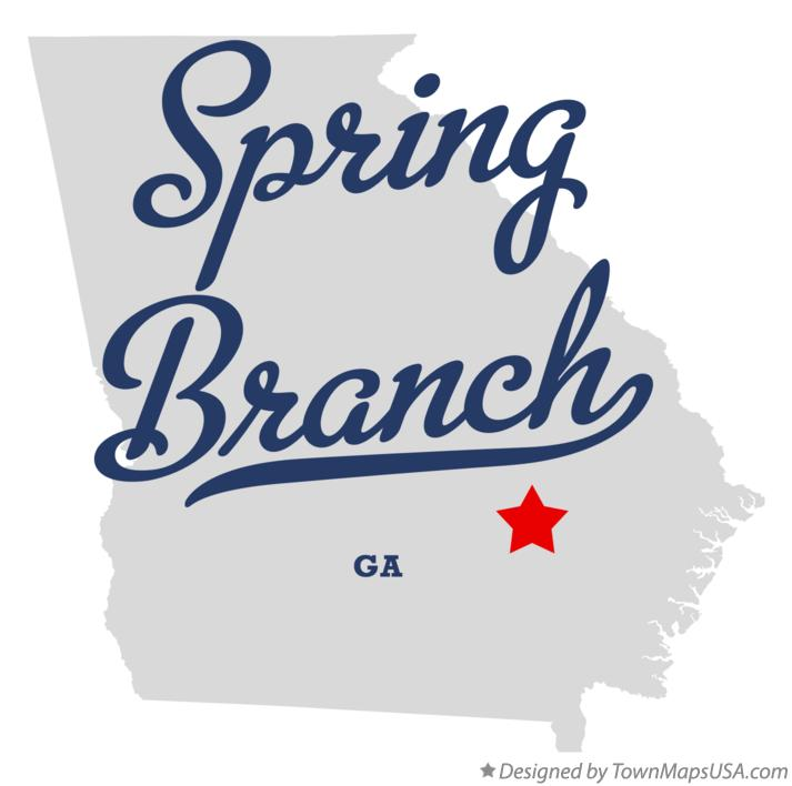 Map of Spring Branch Georgia GA