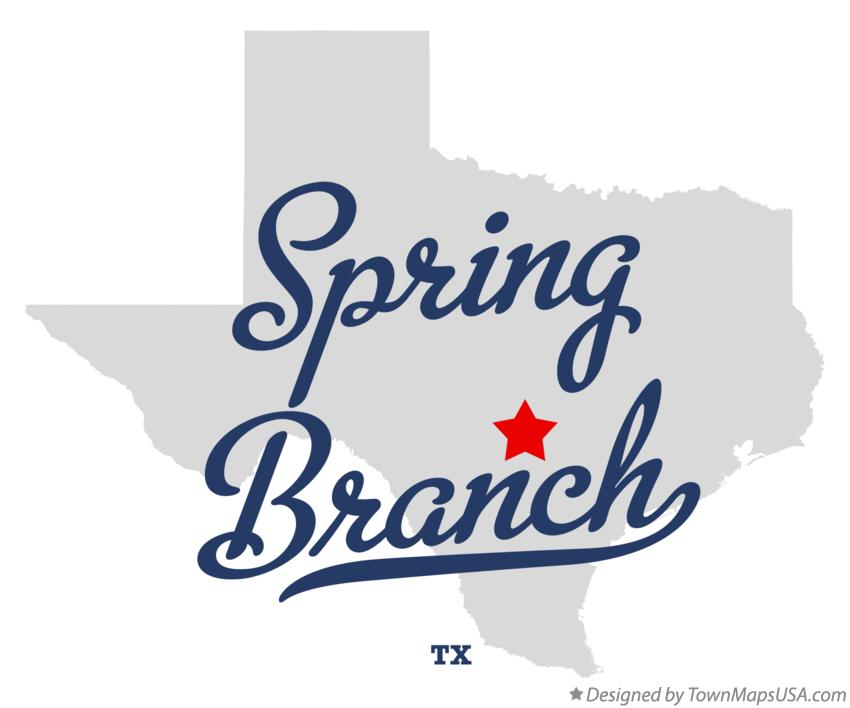 Map of Spring Branch Texas TX