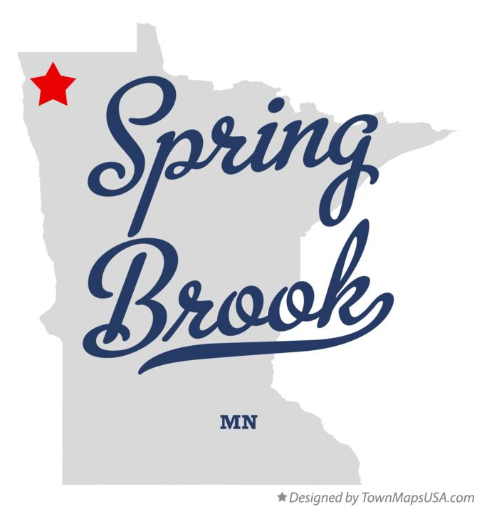Map of Spring Brook Minnesota MN