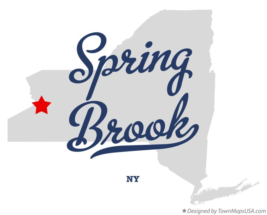 Map of Spring Brook New York NY