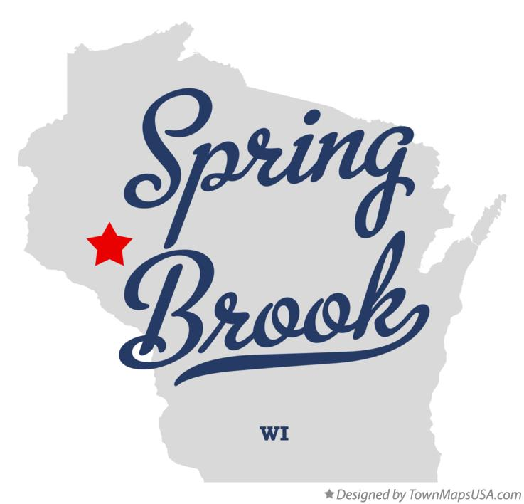 Map of Spring Brook Wisconsin WI