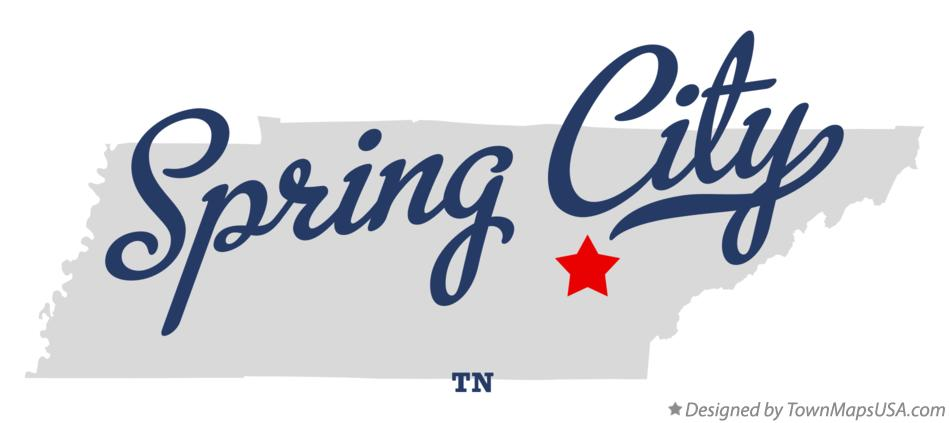 Map of Spring City Tennessee TN