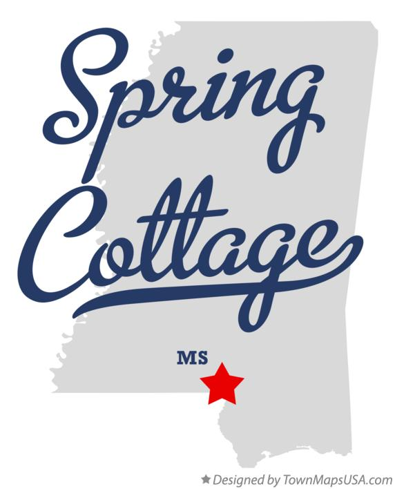 Map of Spring Cottage Mississippi MS