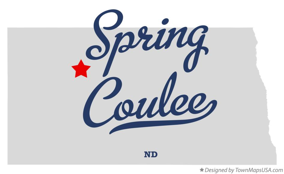 Map of Spring Coulee North Dakota ND