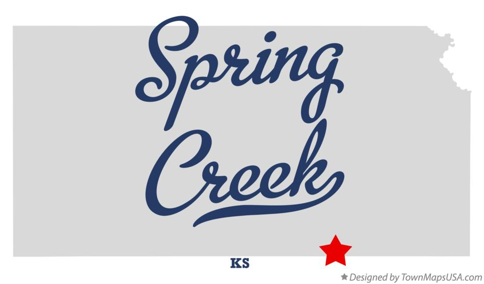 Map of Spring Creek Kansas KS