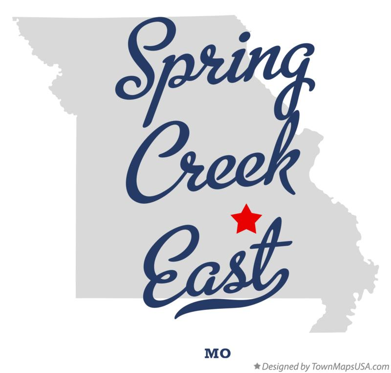 Map of Spring Creek East Missouri MO