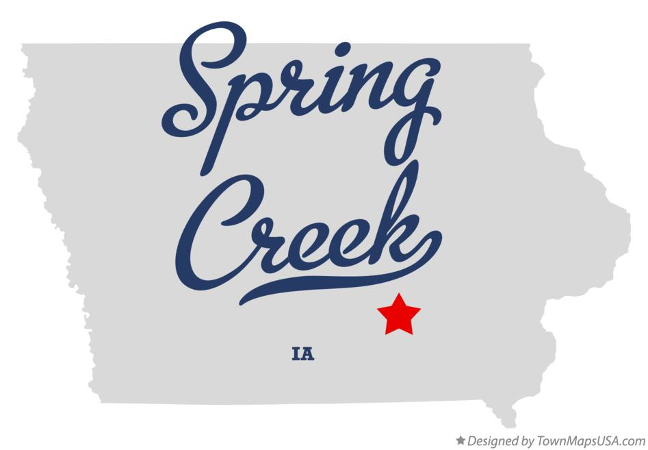 Map of Spring Creek Iowa IA