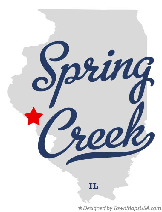 Map of Spring Creek Illinois IL