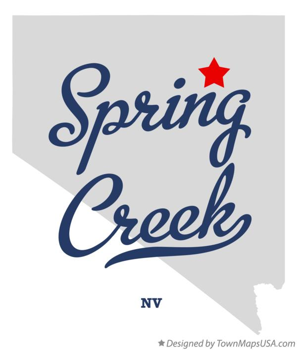 Map of Spring Creek Nevada NV
