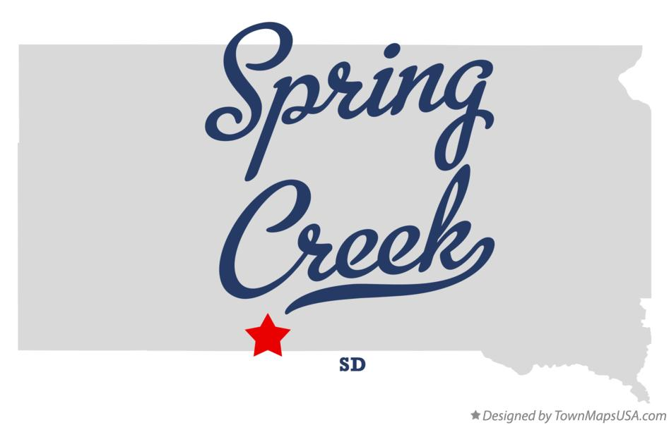 Map of Spring Creek South Dakota SD