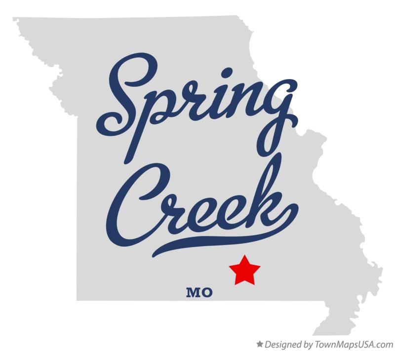 Map of Spring Creek Missouri MO