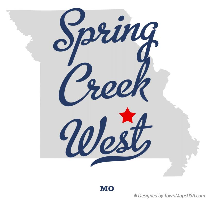 Map of Spring Creek West Missouri MO