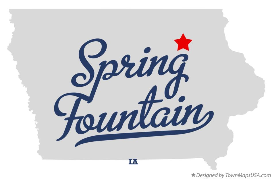 Map of Spring Fountain Iowa IA
