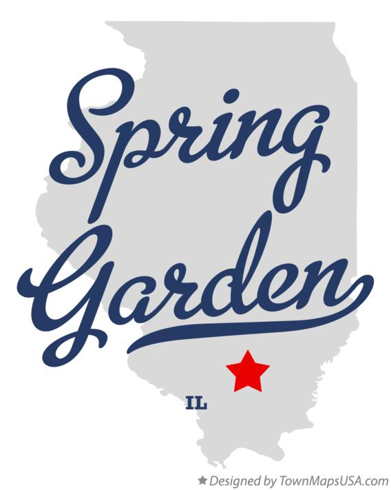 Map of Spring Garden Illinois IL