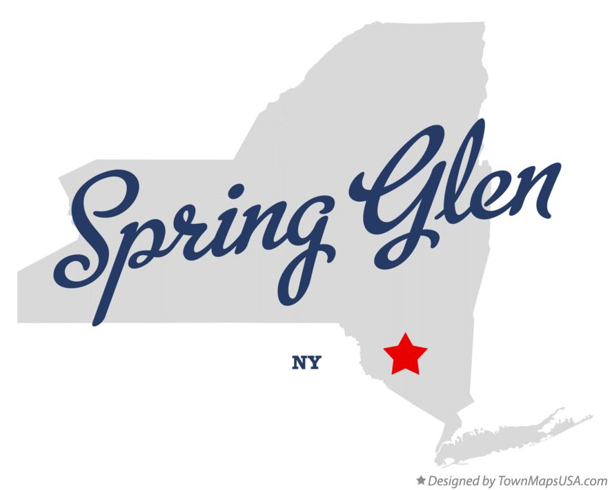Map of Spring Glen New York NY