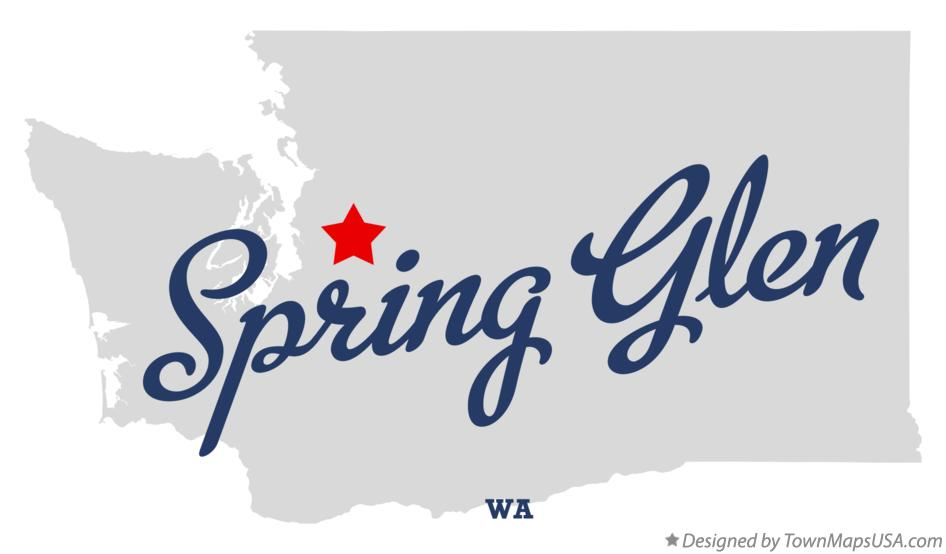 Map of Spring Glen Washington WA