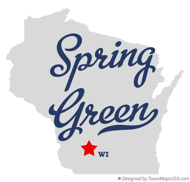Map of Spring Green Wisconsin WI