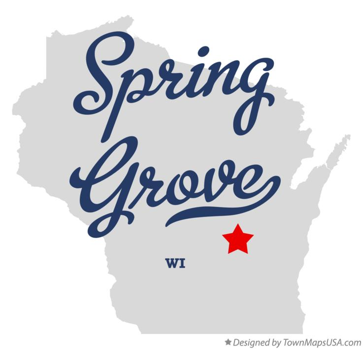 Map of Spring Grove Wisconsin WI