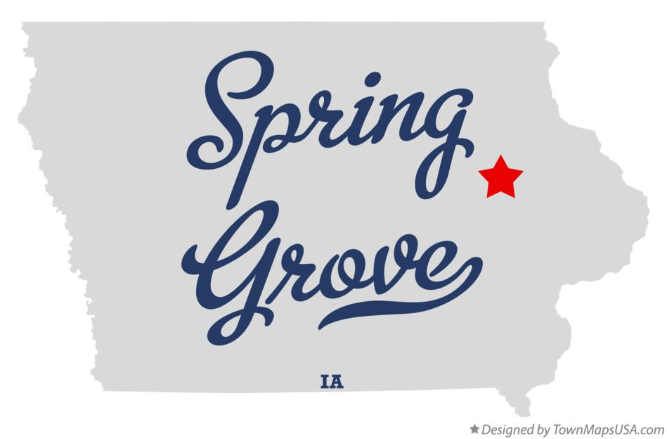 Map of Spring Grove Iowa IA