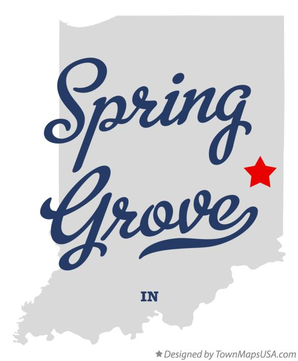 Map of Spring Grove Indiana IN