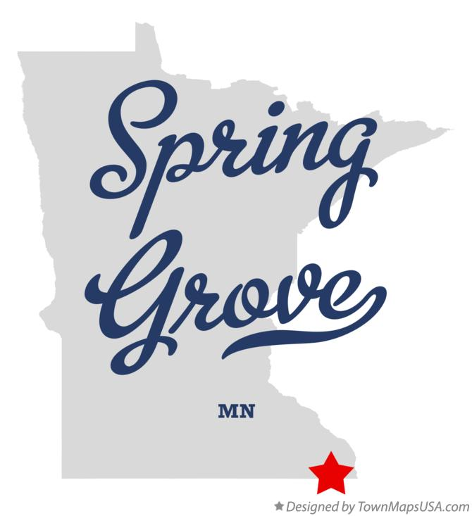 Map of Spring Grove Minnesota MN