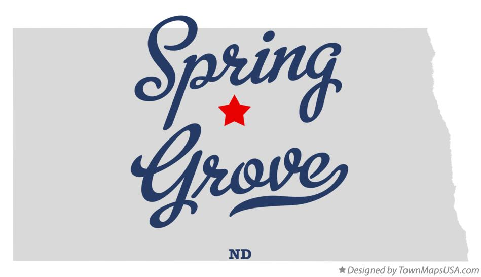 Map of Spring Grove North Dakota ND