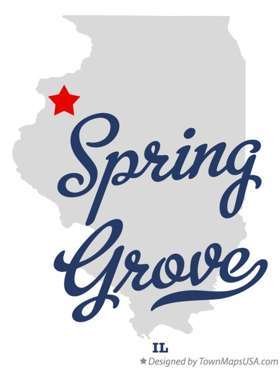 Map of Spring Grove Illinois IL
