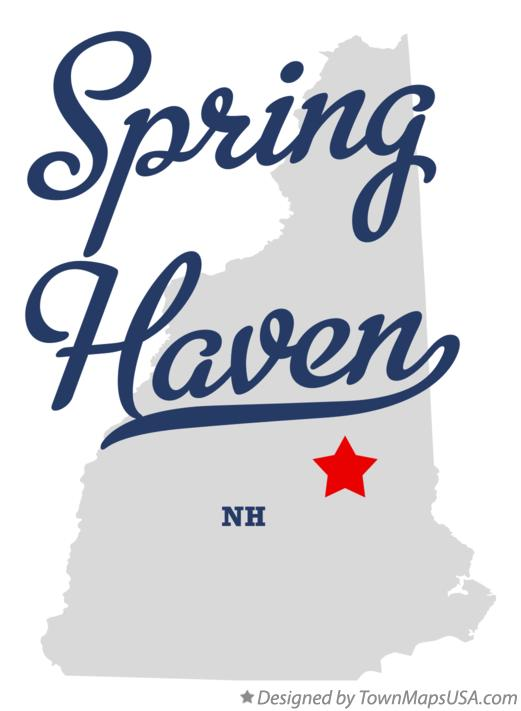 Map of Spring Haven New Hampshire NH