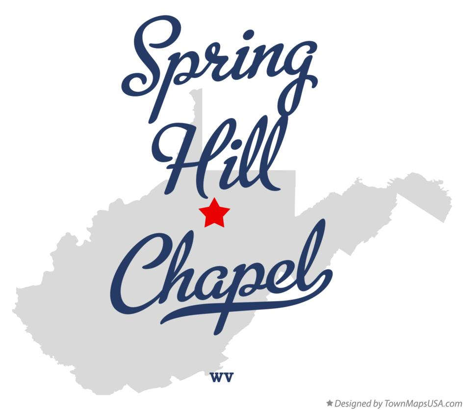 Map of Spring Hill Chapel West Virginia WV
