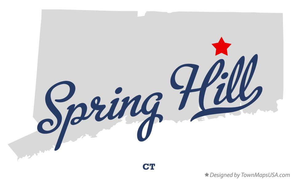 Map of Spring Hill Connecticut CT