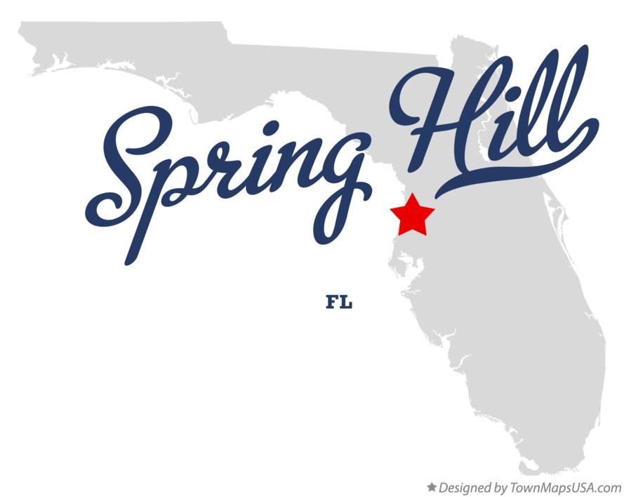 Map Of Spring Hill Florida.Map Of Spring Hill Hernando County Fl Florida