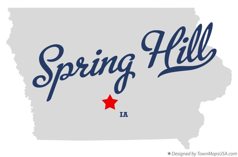Map of Spring Hill Iowa IA