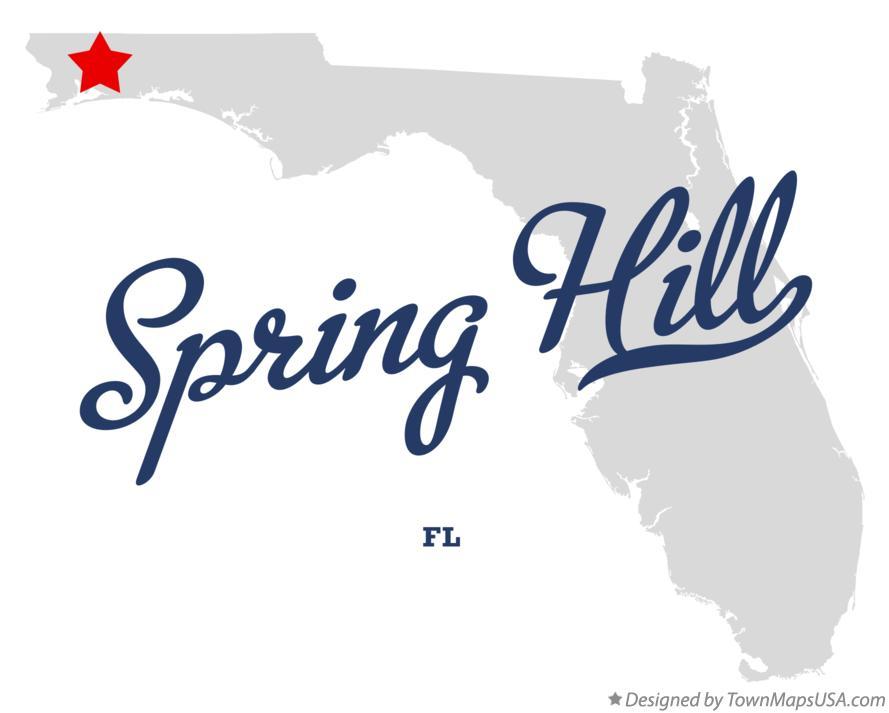 Map Of Spring Hill Florida.Map Of Spring Hill Santa Rosa County Fl Florida