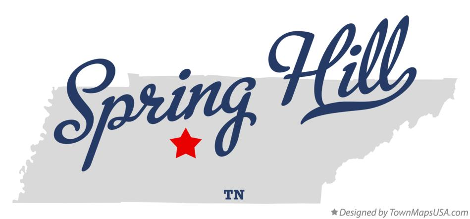 Map of Spring Hill Tennessee TN