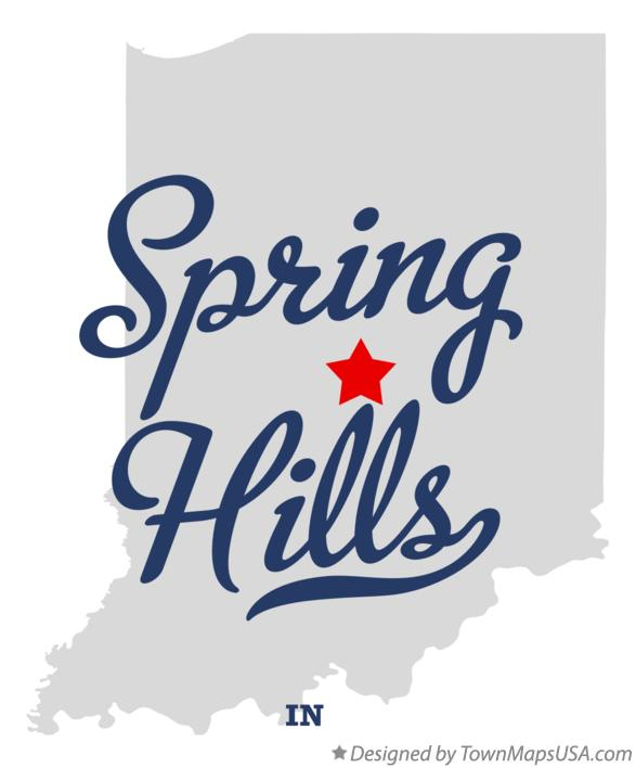 Map of Spring Hills Indiana IN