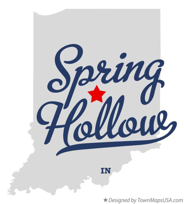 Map of Spring Hollow Indiana IN
