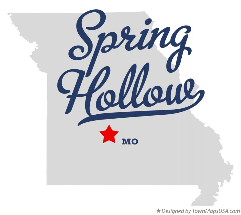 Map of Spring Hollow Missouri MO