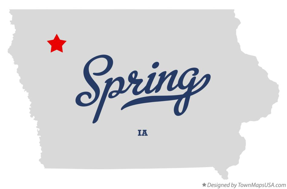 Map of Spring Iowa IA